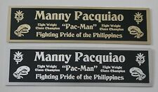 Manny Pacquiao nameplate for signed boxing gloves trunks photo or display case