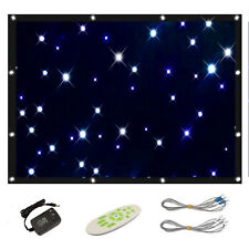 Blue White Star Curtains LED Cloth Backdrop Splicable Auto/Strob((9 Variations)