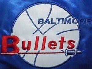 Baltimore / Washington Bullets / Wizards Varsity / Bomber Satin Jacket
