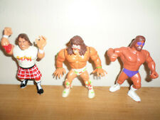 VINTAGE WWF HASBRO ULTIMATE WARRIOR, PIPER, WRESTLING FIGURES - FAST SHIPPING