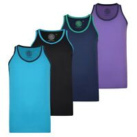 KAM Men's Athletic Vest Plain Casual Summer Sleeveless Tank Top For Gym & Sports