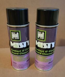 2 (Two) MISTY A00368 Contact & Circuit Board Cleaner III Spray Aerosol Can 11oz