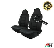 Front Padded Premium Black Fabric Car Seat Covers For Toyota Corolla Avensis
