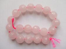 5pz di perline pietre in quarzo rosa  sfaccettate 10mm bijoux