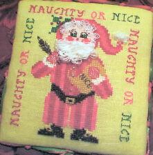 "NEW!! Tempting Tangles Designs ""NAUGHTY OR NICE SANTA"" Cross Stitch Pattern"