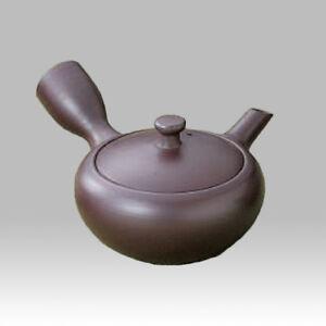 Banko-yaki Kyusu teapot - Iron color - 150cc/ml - obi ami stainless steel net