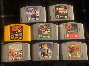 Lot Of 8 Nintendo 64 Cartridges (Mario, Donkey Kong, etc)