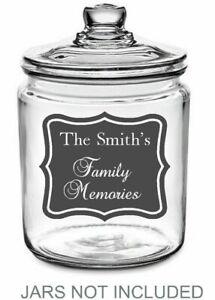 Personalised Name Memory memorial Jar Sticker label Mason Jar Tin Kids keepsake