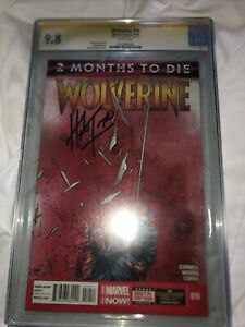 DEATH OF WOLVERINE #10 CGC 9.8 GOLD SS SIGNED BY HERB TRIMPE