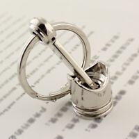 Portable Metal Piston Car Keychain Keyfob Engine Auto Fob Chain Key Ring Ke Q2E9