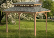 10' x 16' Double Hip Roof Gazebo Building Plans  - Perfect for Hot Tubs