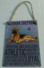 German Shepherd - Vintage Retro Shabby Chic Mini Metal Plaque Sign