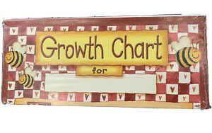 New Bumble Bee And Sunflower Children's Growth Chart Up To 5 Ft