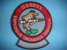 VIETNAM WAR PATCH, US NAVY EXPLOSIVE ORDNANCE DISPOSAL  EODGRUPAC