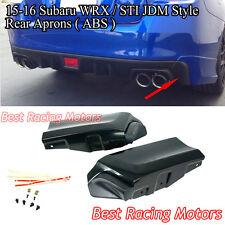 JDM Style Rear Bumper Aprons (ABS) Fits 15-18 Subaru WRX STi 4dr