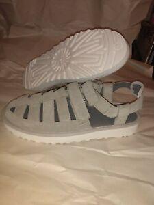 UGG Men's Dune Fisherman Sandals Gray Suede Size 10 NEW