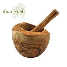 Devine Deli Rustic Olive Wood Pestle and Mortar, 14cm  - PAMSS