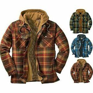 Lumberjack Shirt Jacket Fur Lined Sherpa Winter Warm Padded Shirt Thicken