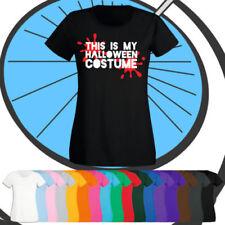 Halloween Cotton Blend Short Sleeve T-Shirts for Women