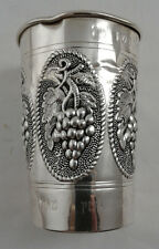 Kiddush Wine Cup Becher - Sterling Silver 925 - 32 g - Engraved, see description
