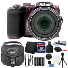 Nikon Coolpix B500 16MP Point and Shoot Camera Plum with 32GB Accessory Kit