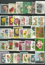 FLOWER / PLANT THEMED STAMPS X 50  -  GOOD MIX  -  FREE POSTAGE IN UK