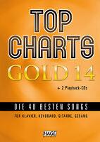 Top Charts Gold 14 - mit 2 CDs + Midifiles, USB-Stick - NEU! + 1 Bleistift