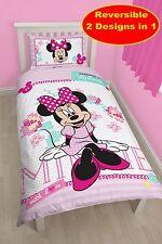 DISNEY MINNIE MOUSE HANDMADE DESIGN DUVET QUILT COVER SET NEW GIRLS PINK BEDROOM