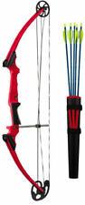 Genesis Archery Original Compound Bow Kit (Right Hand, Red) w. Quiver & Arrows