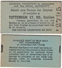 More details for wwii air raid ticket admit one person for shelter at tottenham court rd station