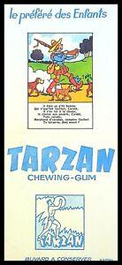 Buvard Publicitaire, TARZAN - Chewing-Gum - Le préféré des enfants