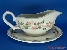 British Home Stores Victorian Rose Gravy Boat and Saucer
