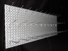 1 LOCHWÄNDE SILBER 100x40cm+ HAKEN 11x20cm + 11x16cm + 11x10cm EINFACHHAKEN TEGO