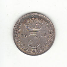 1919 Great Britain George V Sterling Silver Threepence.  FREE SHIPPING.