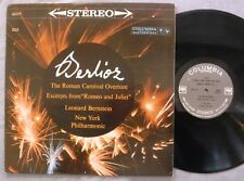 Berlioz Roman Carnival Romeo & Juliet Leonard Bernstein NY Phil LP Columbia 1962