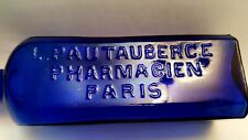 More details for antique cobalt blue pharmaceutical lung disease bottle by pautauberge of paris.