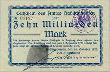 Amt Haßlinghausen 10 milliarden mark 1923 AU with tears