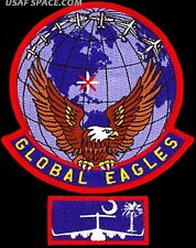 USAF 15TH AIRLIFT SQUADRON - GLOBAL EAGLES + C-17 POCKET TAB - ORIGINAL PATCH