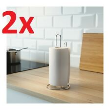 2x IKEA TORKAD Galvanised Steel Kitchen Roll Holder Paper Towel Rack Stand /Wall