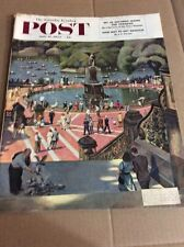 JULY 11 1953 SATURDAY EVENING POST vintage magazine Afternoon In The Park