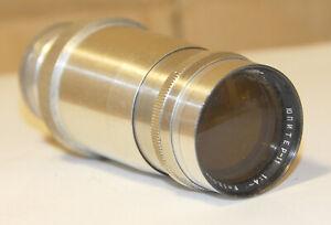 """Jupiter-11 4/135mm  Lens for vintage 35mm cameras KS AKS etc  #5202580 RED """"P"""""""
