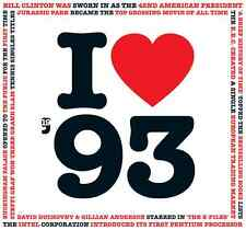 25th BIRTHDAY GIFT- I Love 1993 Compilation CDYear  Greetings Card