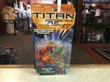 2000 Hasbro Titan A.E. Movie  ARC RUNNER and CABLE Figure MOC SIGNED