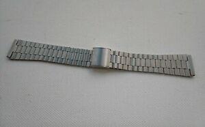 Vintage Stainless Steel unbranded link watch bracelet 18mm