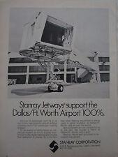11/1973 PUB STANRAY CORPORATION OGDEN DALLAS AIRPORT JETWAY PASSENGER BRIDGE AD