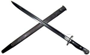 Australian Lithgow Pattern 1907 P07 Mark I Sword Bayonet Mangrovite Scabbard