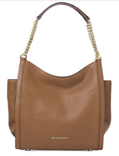NWT MICHAEL Michael Kors Newbury Medium Shoulder Tote ACORN~MSRP $328
