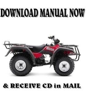 1995 Suzuki LT-F250  LT-4WD Quadrunner service repair shop manual on CD