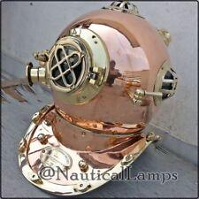 Reproduction Full Size Brass & Copper Vintage Divers Diving Helmet U.S Navy IV