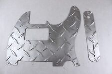 Humbucking Satin Aluminum Diamond Plate Tele Pickguard Set for Fender Telecaster
